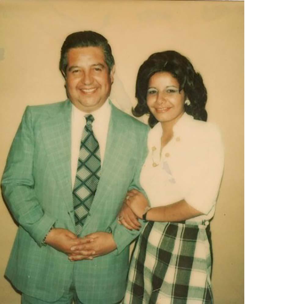 Manuel Contreras y Adriana Rivas, la Chany, una de sus secretarias de confianza, devenida en agente.