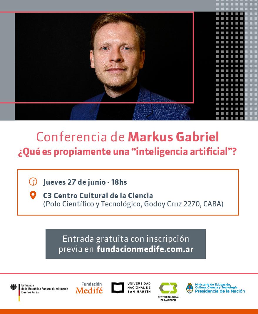 Invitación - Markus Gabriel en el C3