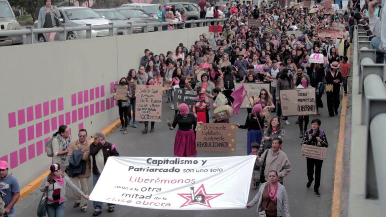 marcha contra la violencia ec