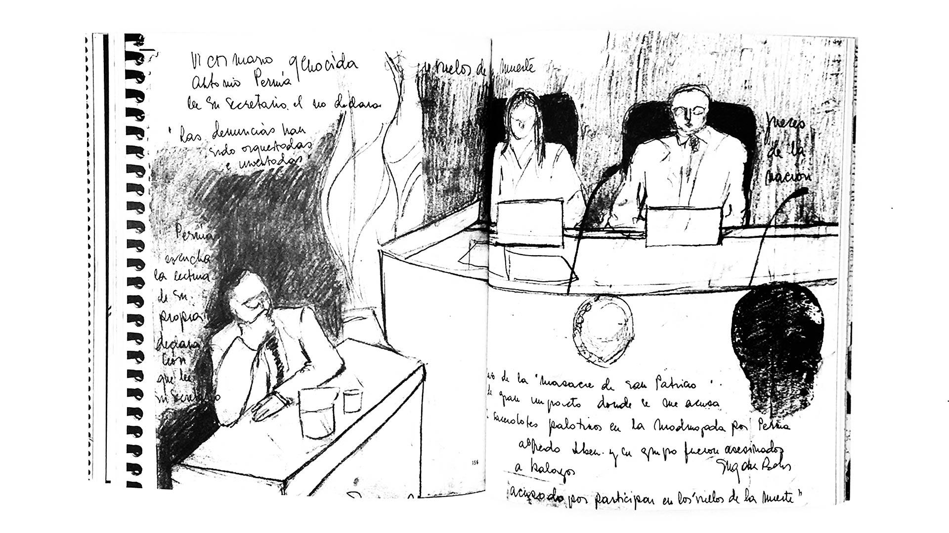 Qué hace una dibujante en los juicios de lesa humanidad_06